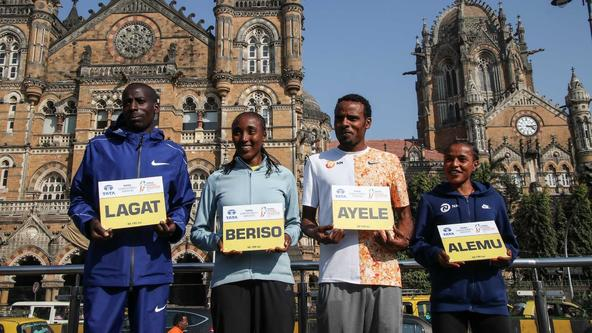 Defending champions Lagat and Alemu ready to do battle at the Tata Mumbai Marathon 2020